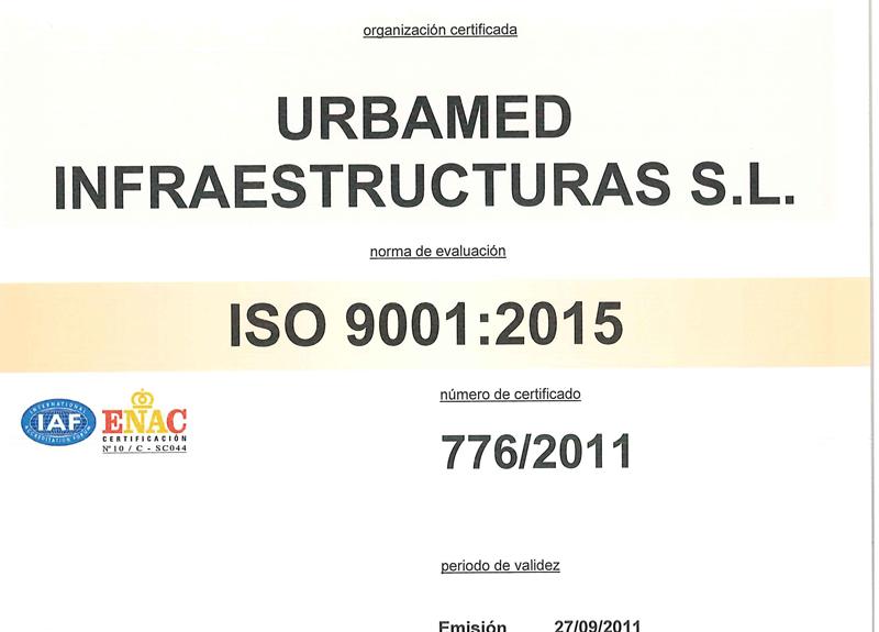 ISO 9001 2015 URBAMED-1