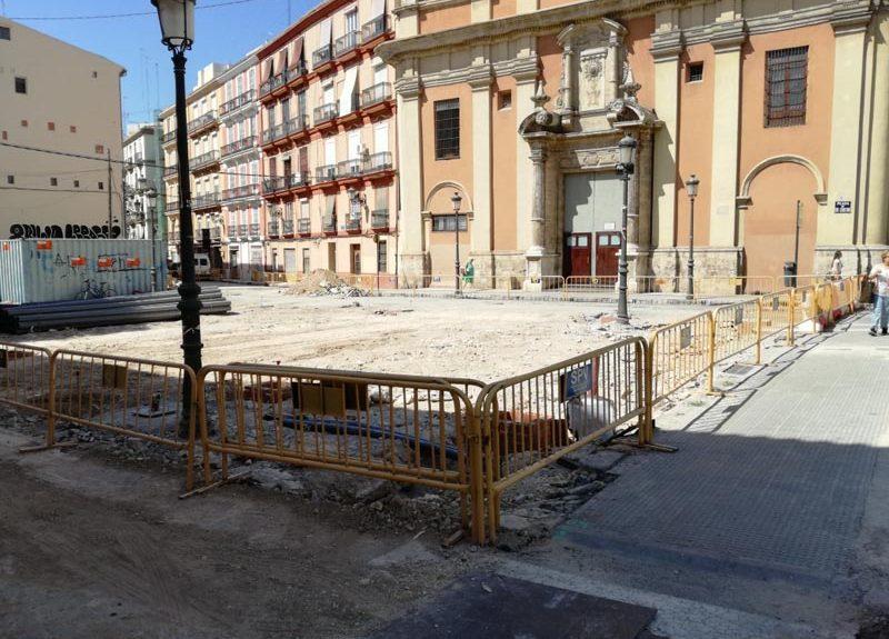 Imagen Obras Plaza San Sebastián en Valencia