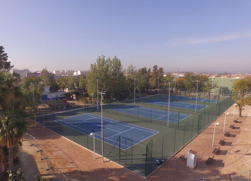 Imágen Obra pistas tenis Catarroja